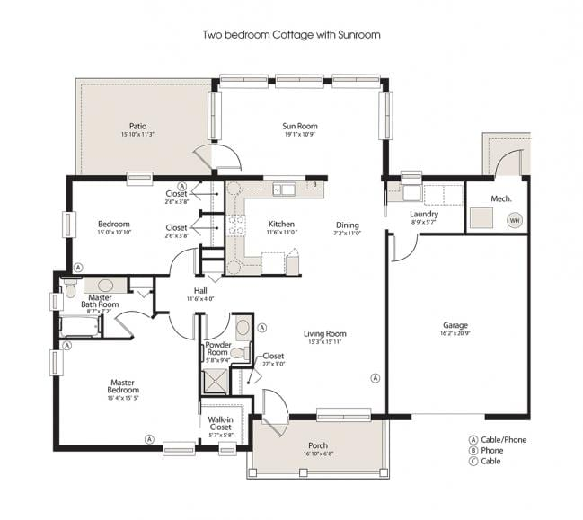 retirement cottage floorplan