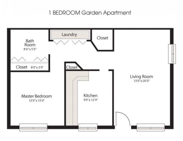 1 bedroom apartment floorplan