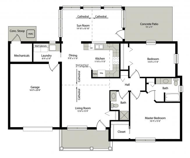 retirement home floorplan
