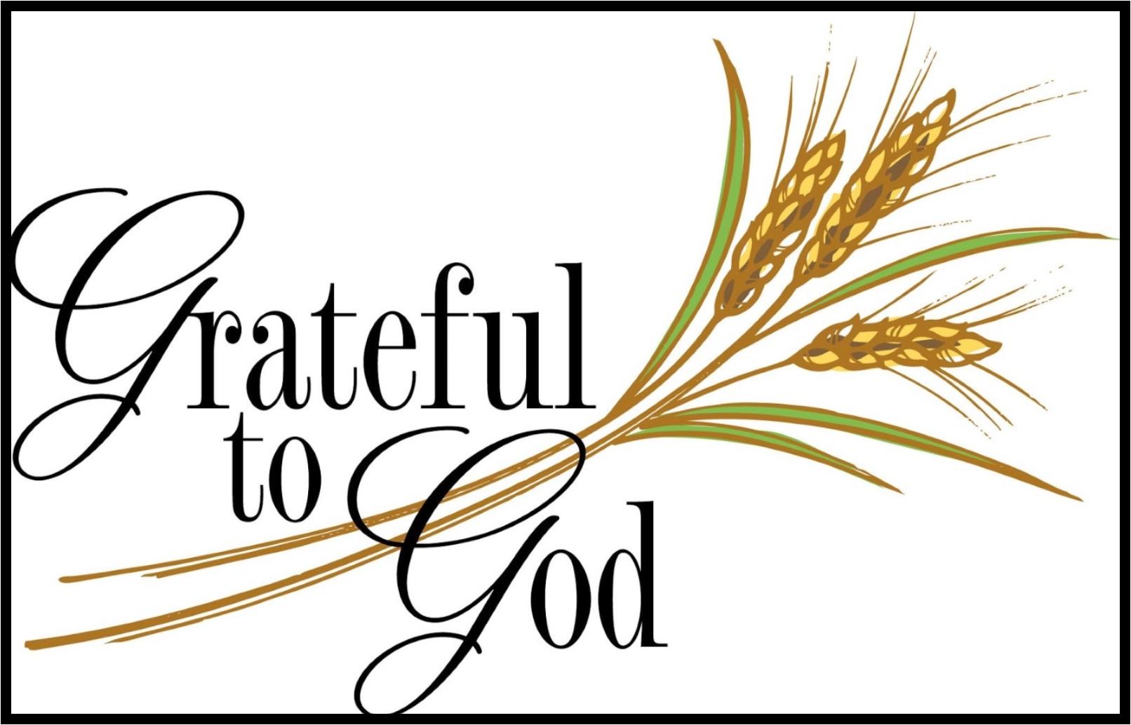 Grateful to god