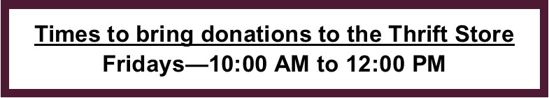 Donation hours