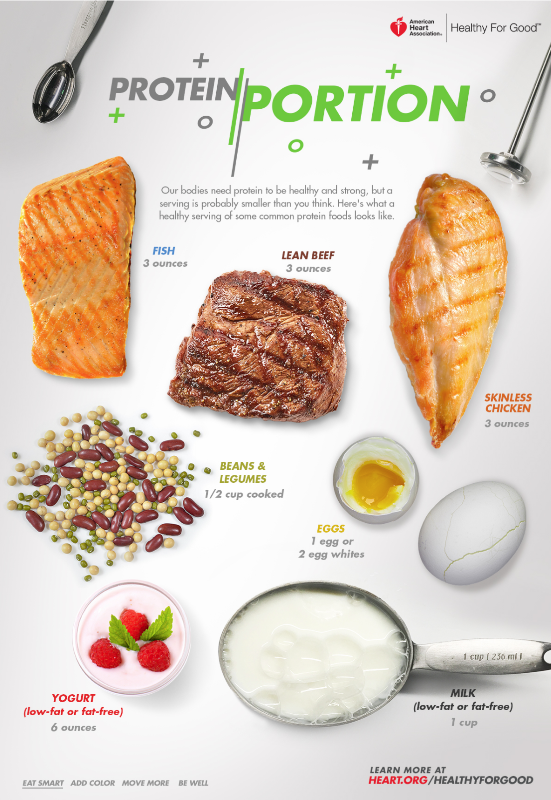 protein portion poster