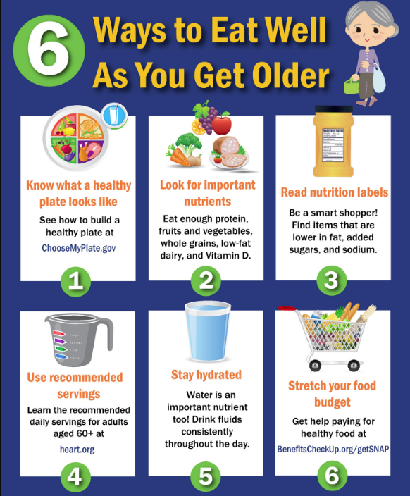 6 ways to eat well infographic