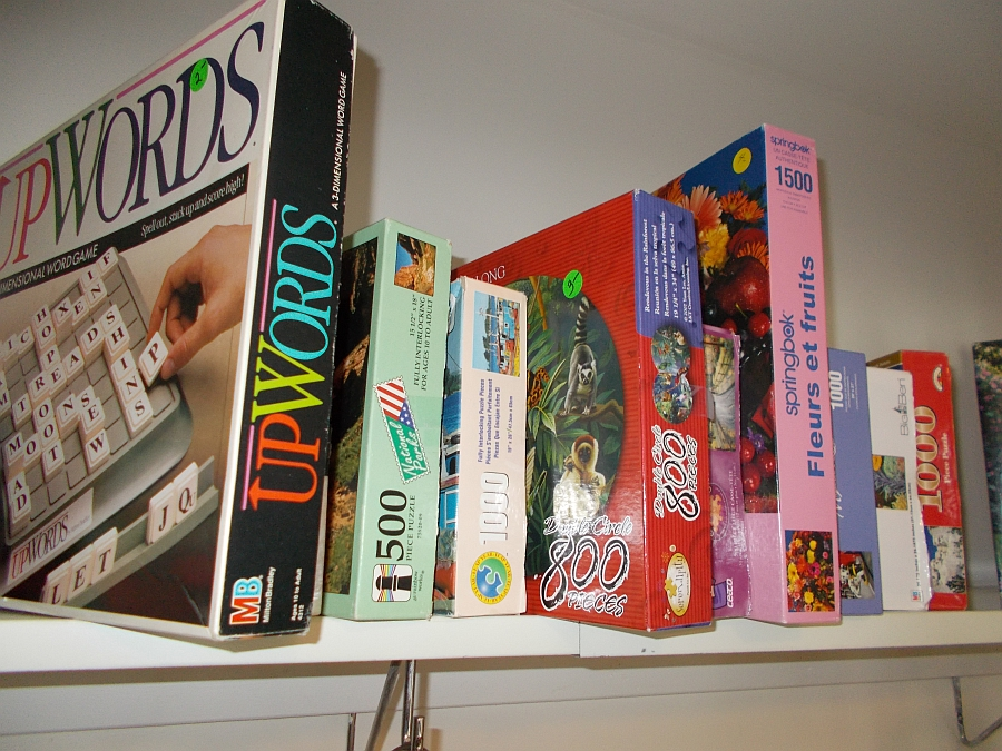 Upwords and other various board games