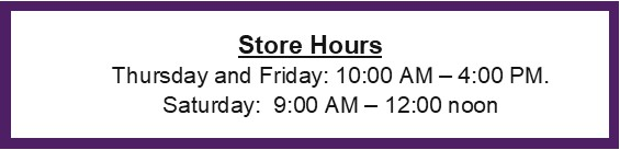 Store Hours of Thrift Store