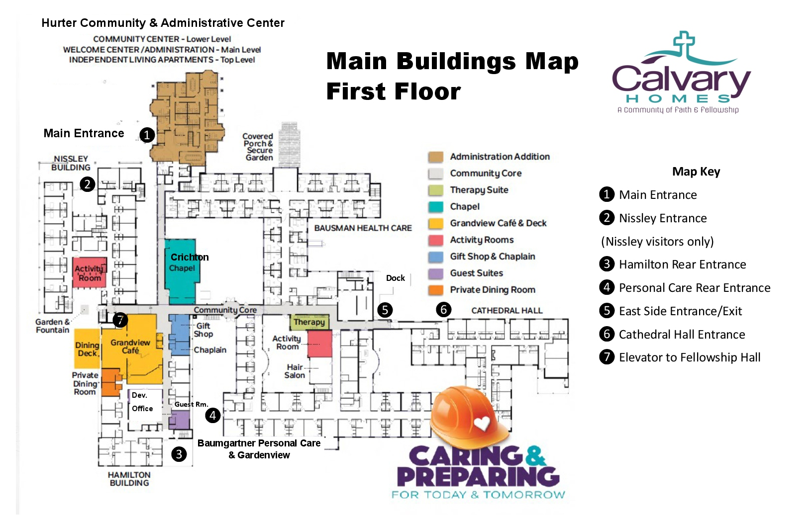 Main building map