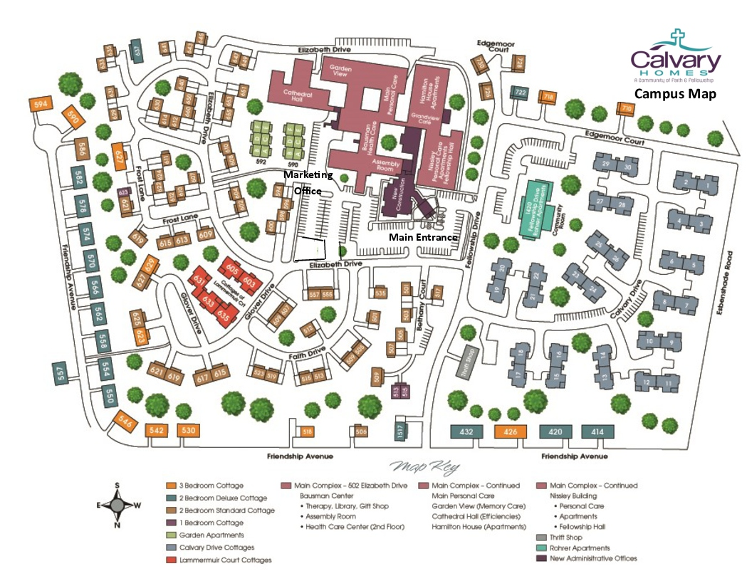 Calvary Homes Campus Map