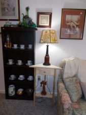 lamp and teacups
