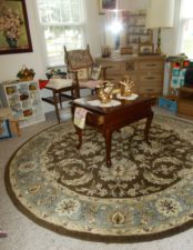 table on rug